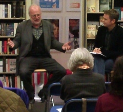 Michael in full flow at an event in Belgravia Books last year